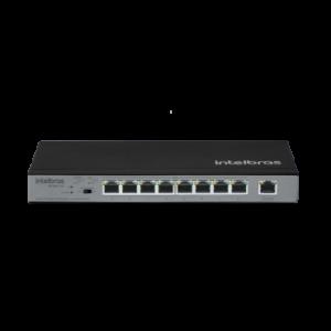 Switch 9 portas Fast Ethernet com 8 portas PoE+