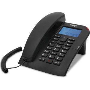 Telefone com fio com identificação de chamadas e viva-voz